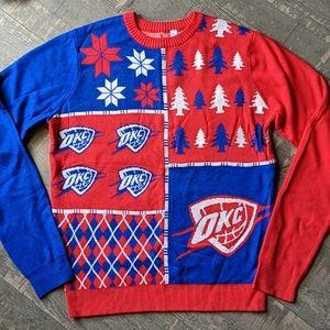 OKC Thunder NBA Christmas Holiday Ugly Sweater